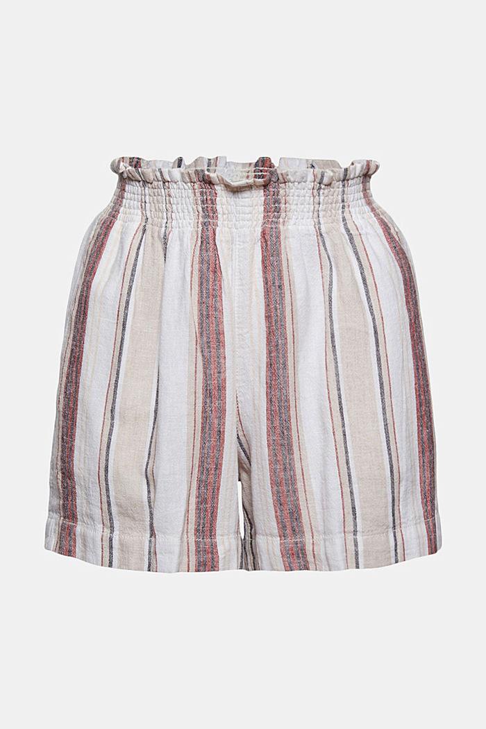 Af hørmix: Shorts med elastiklinning