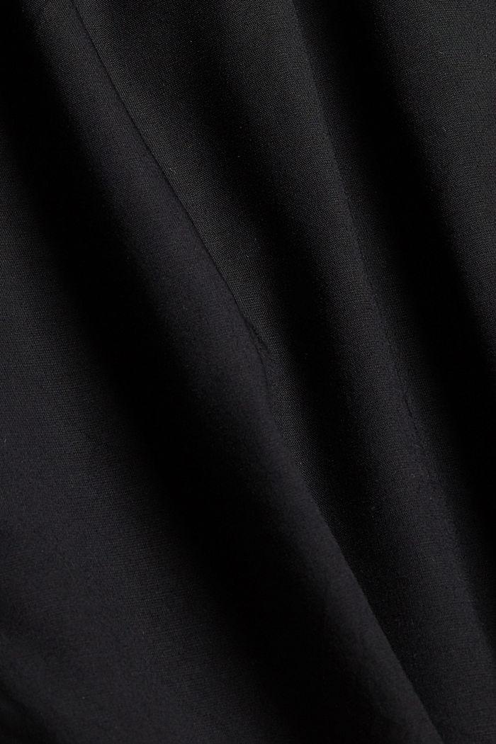 Shortsit smokkirypytetyllä vyötäröllä, LENZING™ ECOVERO™, BLACK, detail image number 4