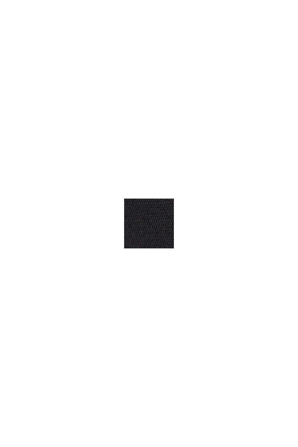 Short à ceinture smockée en LENZING™ ECOVERO™, BLACK, swatch