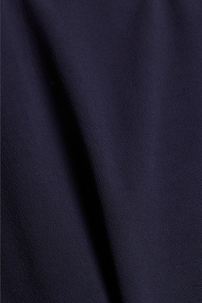 Wrap-over skirt made of LENZING™ ECOVERO™, NAVY, detail image number 4