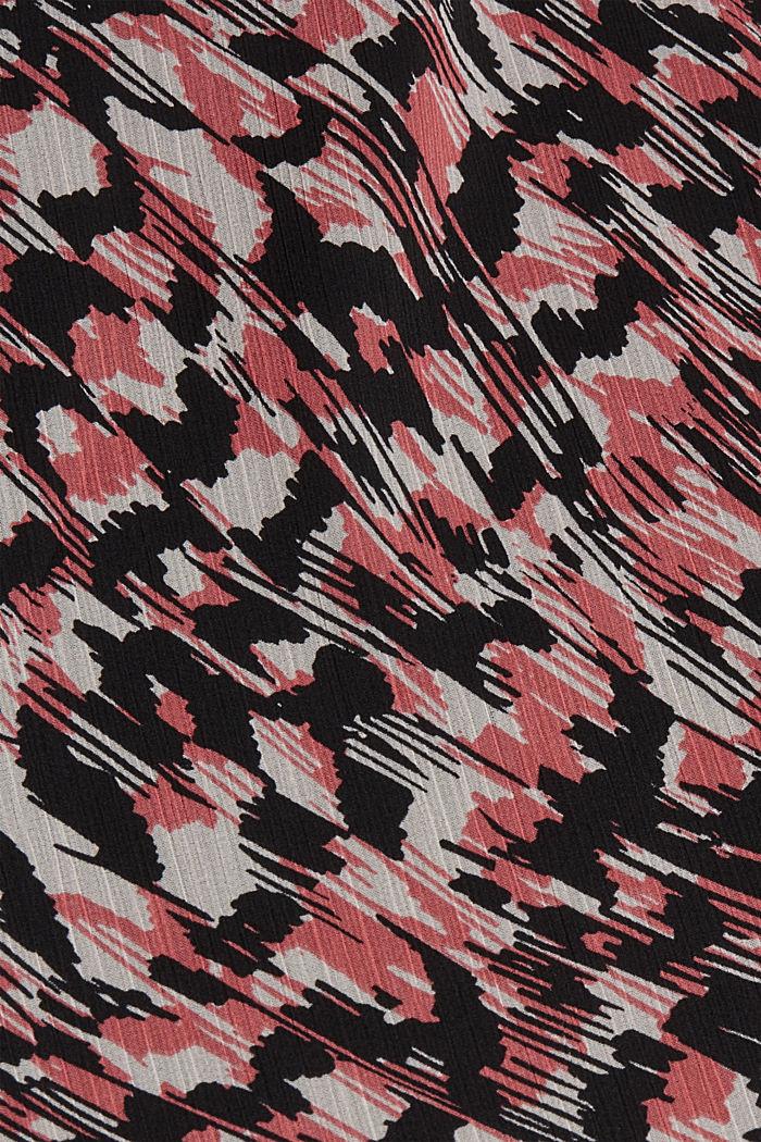 Jupe longueur midi en mousseline imprimée, BLACK, detail image number 4