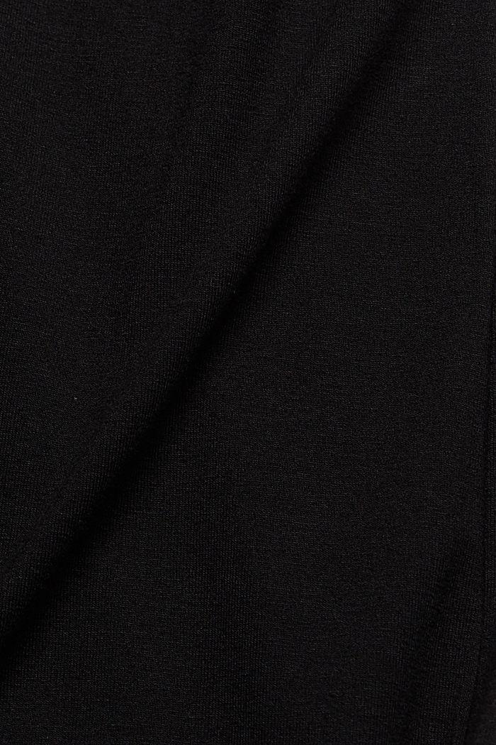 Jersey jurk met geknoopt effect, LENZING™ ECOVERO™, BLACK, detail image number 4