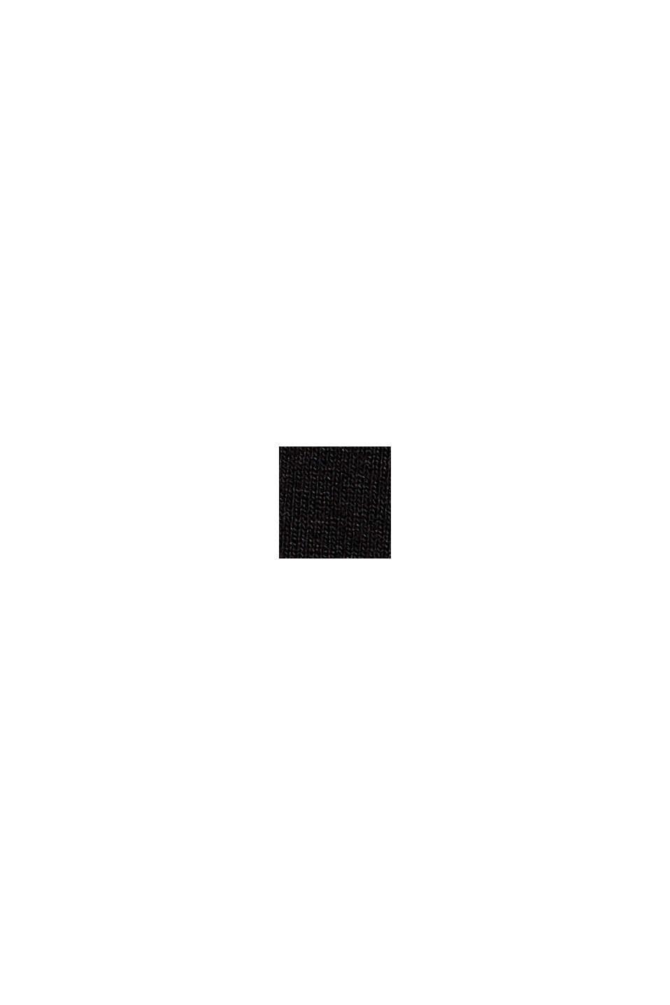 Jerseykjole med bundne knuder, LENZING™ ECOVERO™, BLACK, swatch