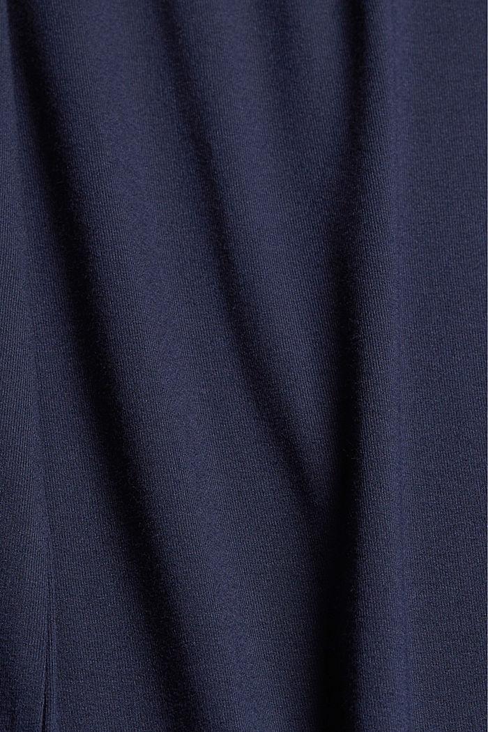 Jersey jurk met geknoopt effect, LENZING™ ECOVERO™, NAVY, detail image number 4