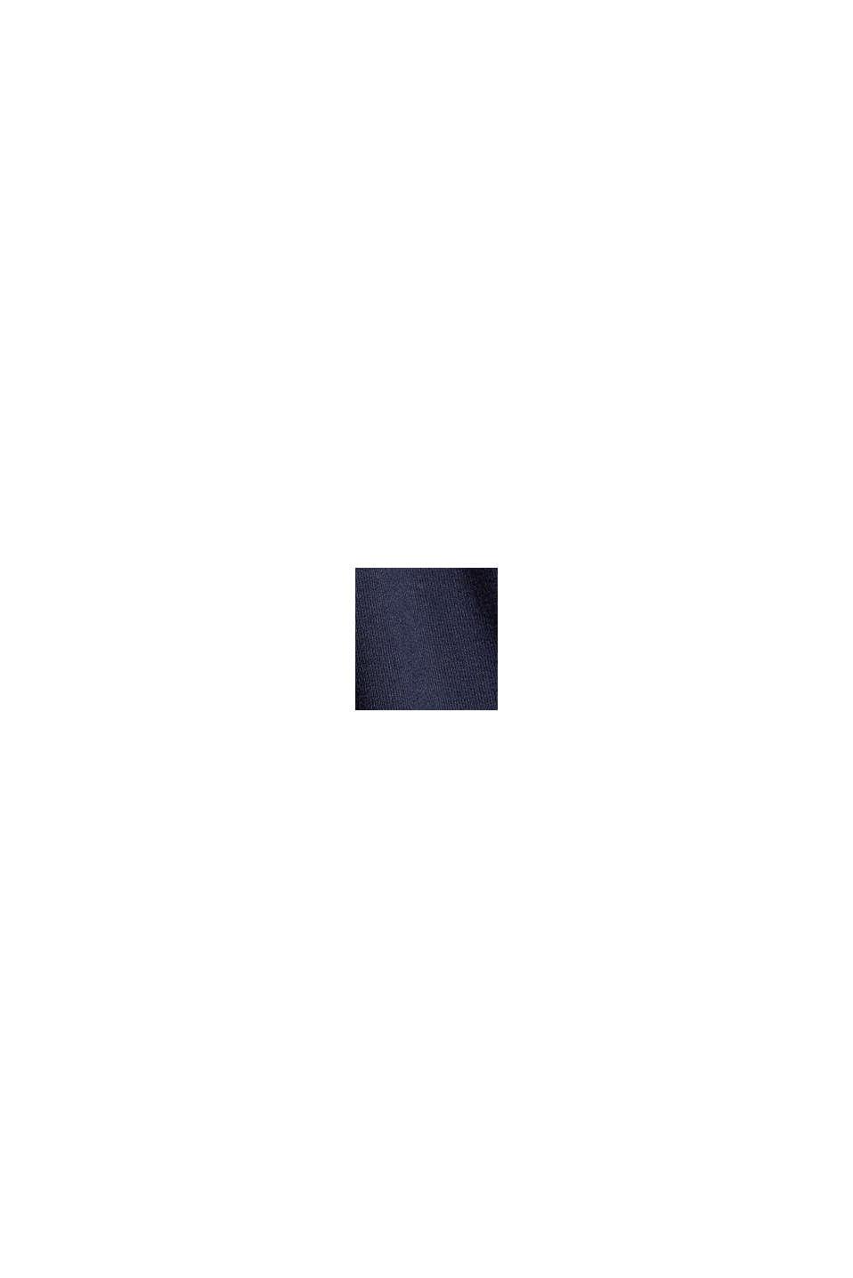 Jerseykjole med bundne knuder, LENZING™ ECOVERO™, NAVY, swatch
