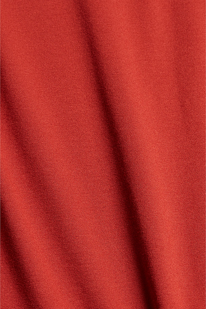 Jersey knotted dress, LENZING™ ECOVERO™, TERRACOTTA, detail image number 4