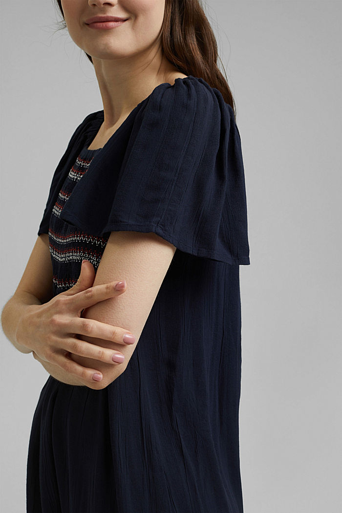 Tent dress with smocked details, NAVY, detail image number 3