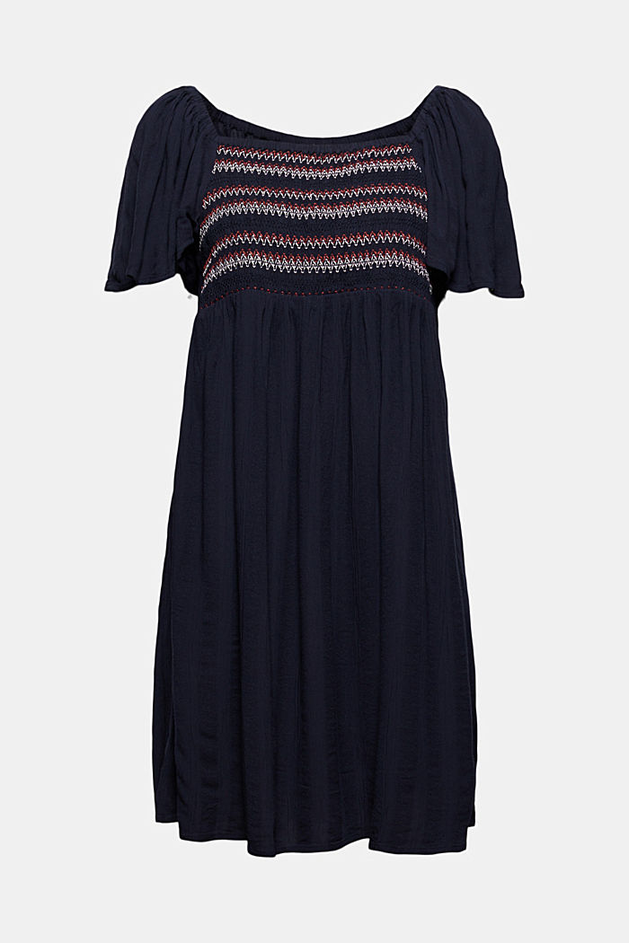 Tent dress with smocked details, NAVY, detail image number 6