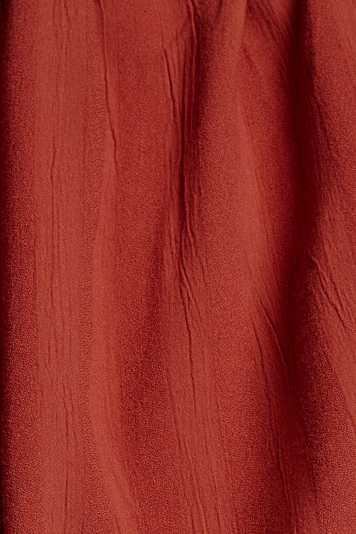Tent dress with smocked details, TERRACOTTA, detail image number 4