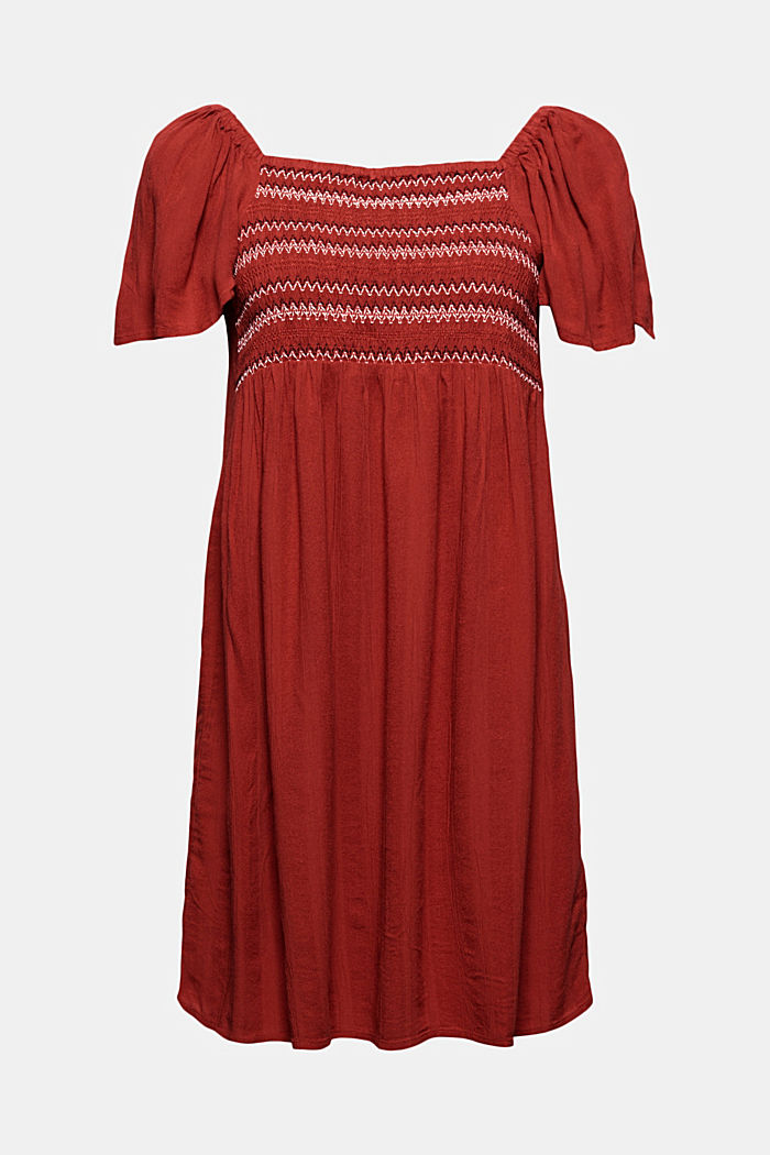 Tent dress with smocked details, TERRACOTTA, detail image number 5