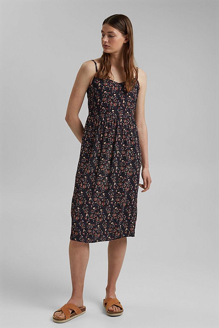 Luftiges Kleid aus LENZING™ ECOVERO™, NAVY, detail image number 0