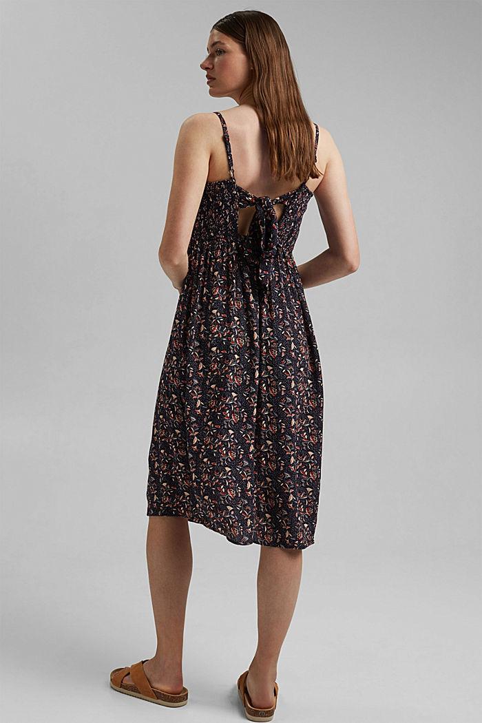 Luftiges Kleid aus LENZING™ ECOVERO™, NAVY, detail image number 2