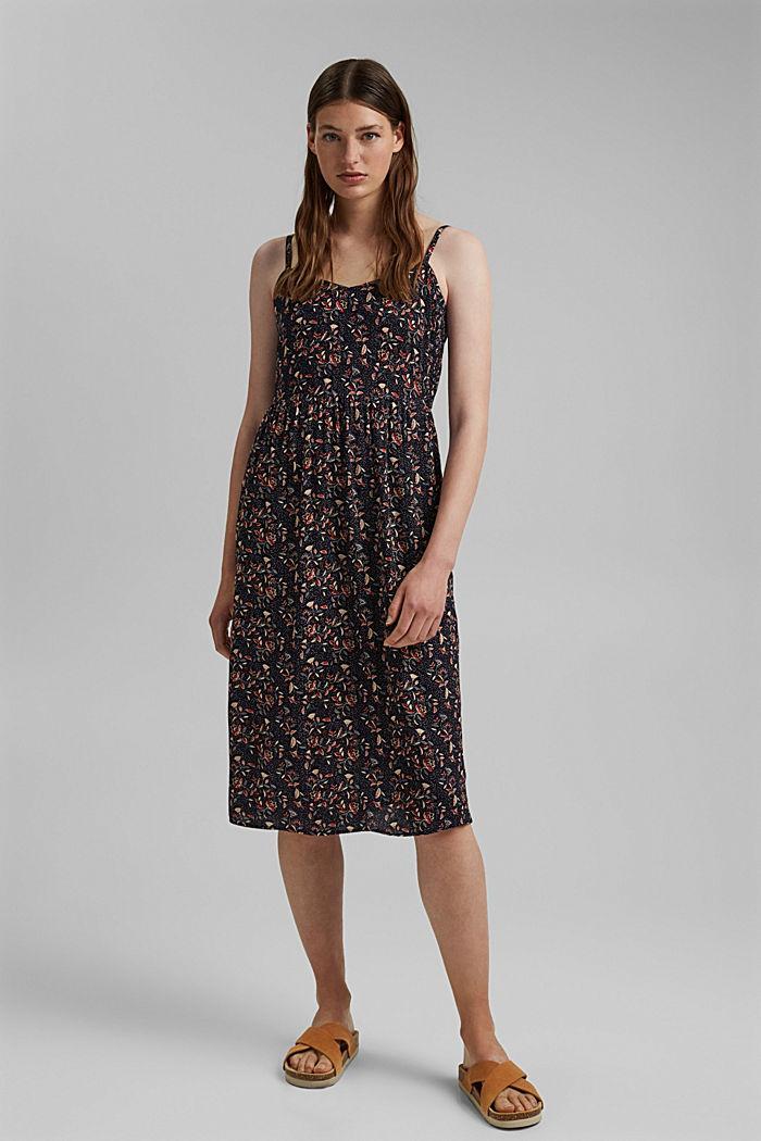 Luftiges Kleid aus LENZING™ ECOVERO™, NAVY, detail image number 1