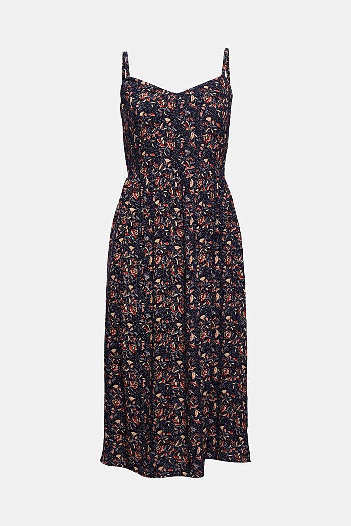 Luftiges Kleid aus LENZING™ ECOVERO™, NAVY, detail image number 5