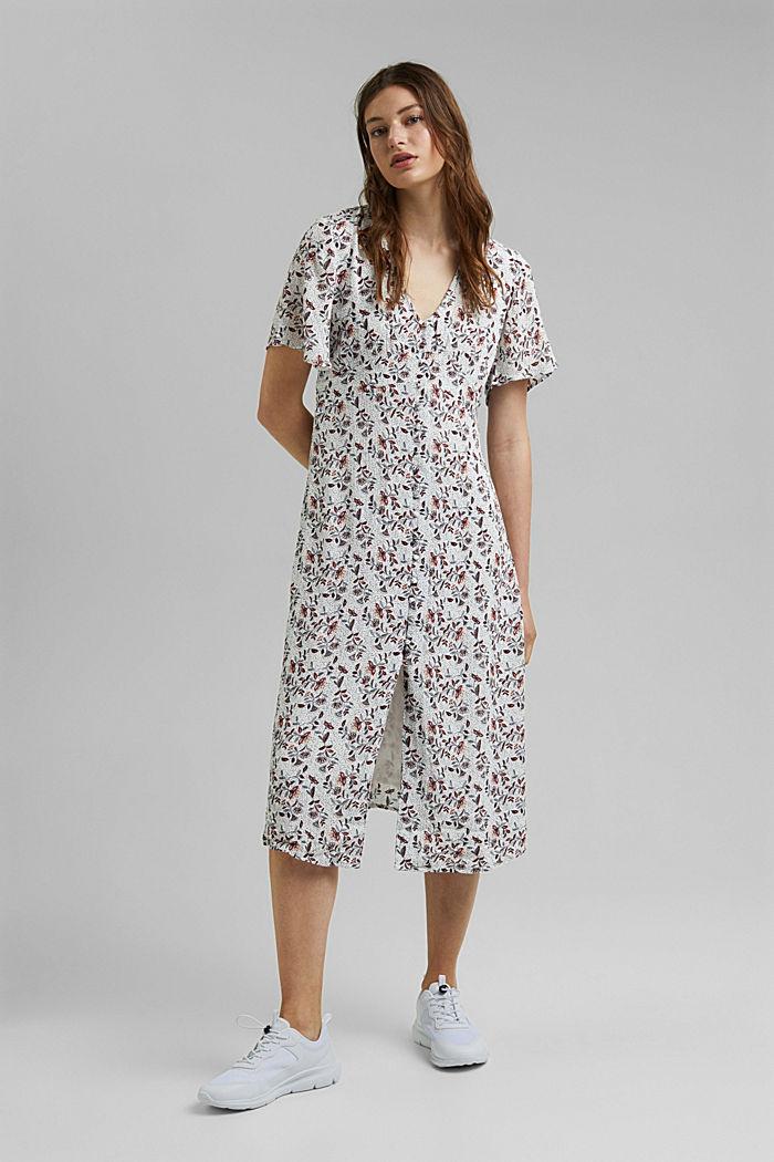 Midi-jurk met print, LENZING™ ECOVERO™, OFF WHITE, detail image number 0
