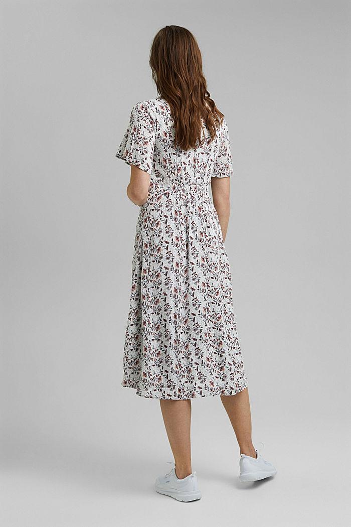 Midi-jurk met print, LENZING™ ECOVERO™, OFF WHITE, detail image number 2
