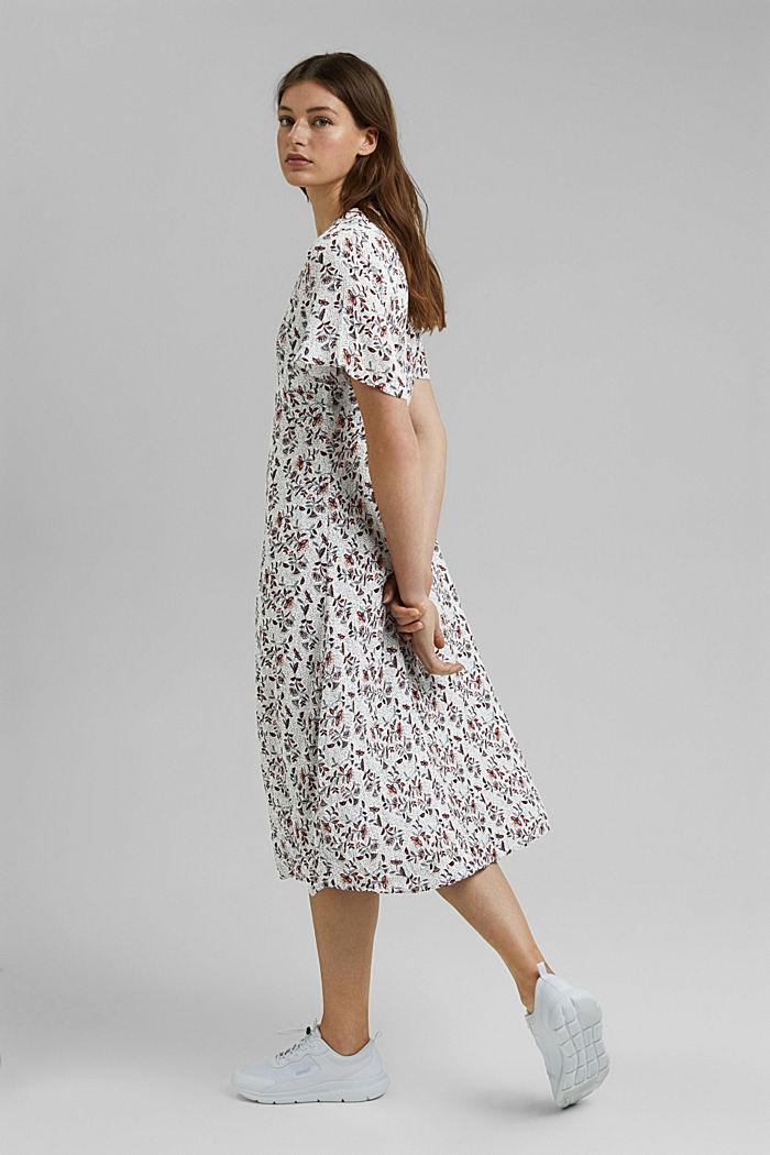Midi-jurk met print, LENZING™ ECOVERO™, OFF WHITE, detail image number 1