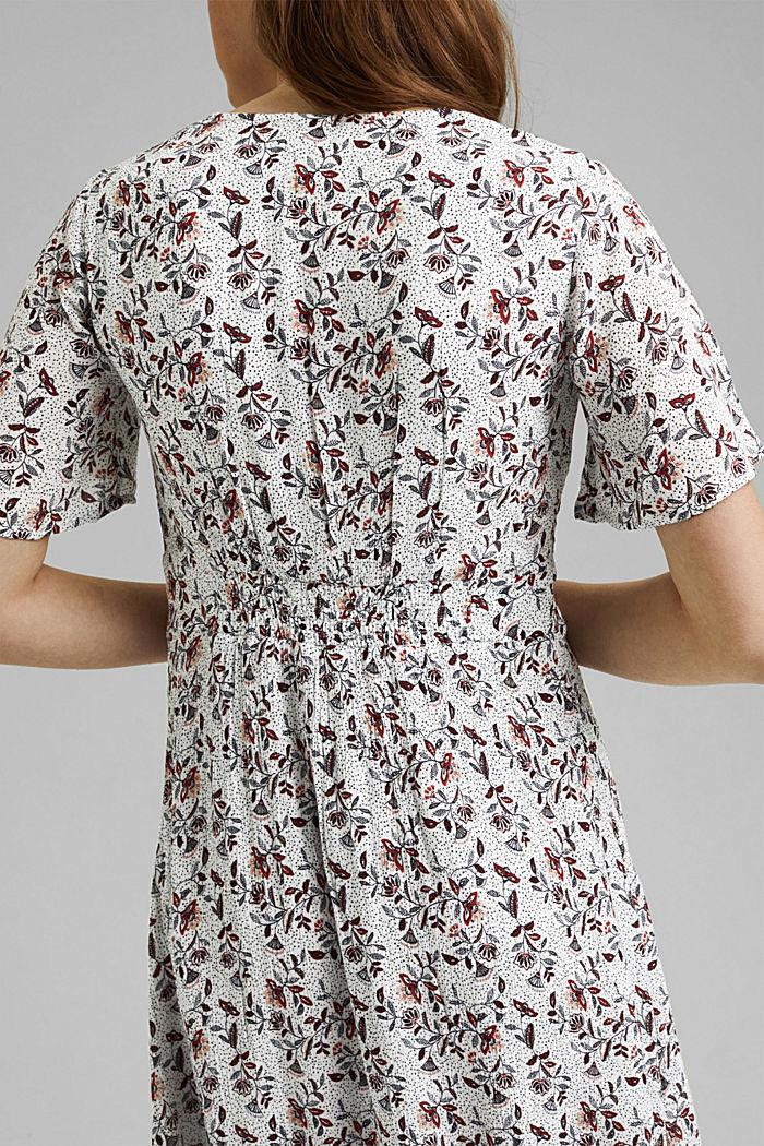 Midi-jurk met print, LENZING™ ECOVERO™, OFF WHITE, detail image number 5