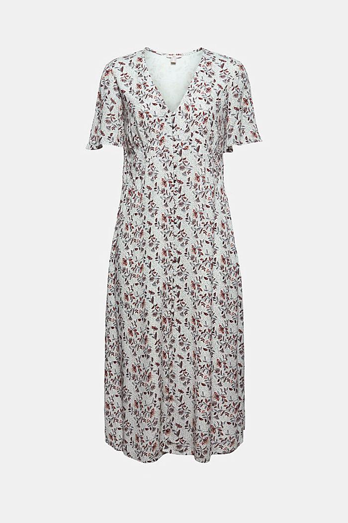 Midi-jurk met print, LENZING™ ECOVERO™, OFF WHITE, detail image number 6