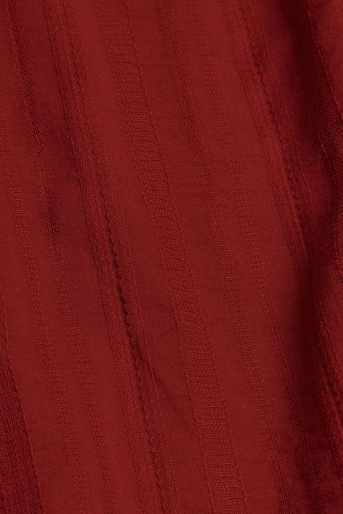 Minišaty se zavazováním za krkem s vlákny LENZING™ ECOVERO™, TERRACOTTA, detail image number 4