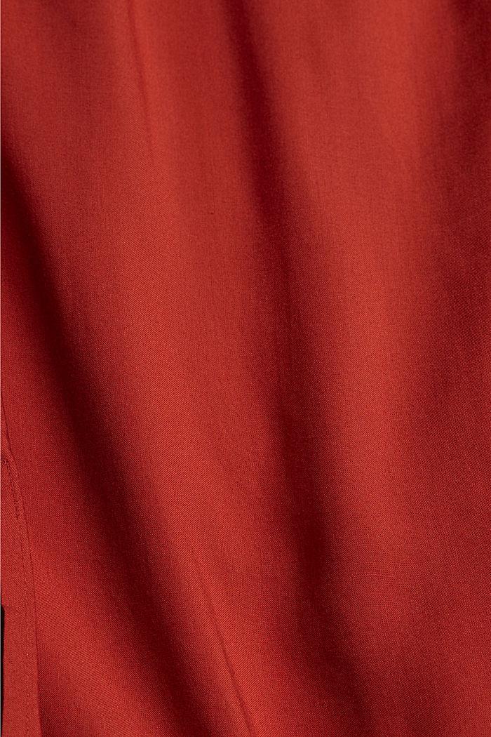 Gesmokte carmenjurk, LENZING™ ECOVERO™, TERRACOTTA, detail image number 4