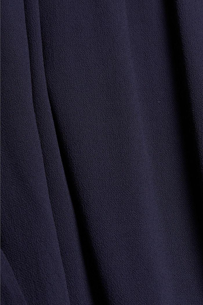 Gesmokte jurk met borduursel van LENZING™ ECOVERO™, NAVY, detail image number 4
