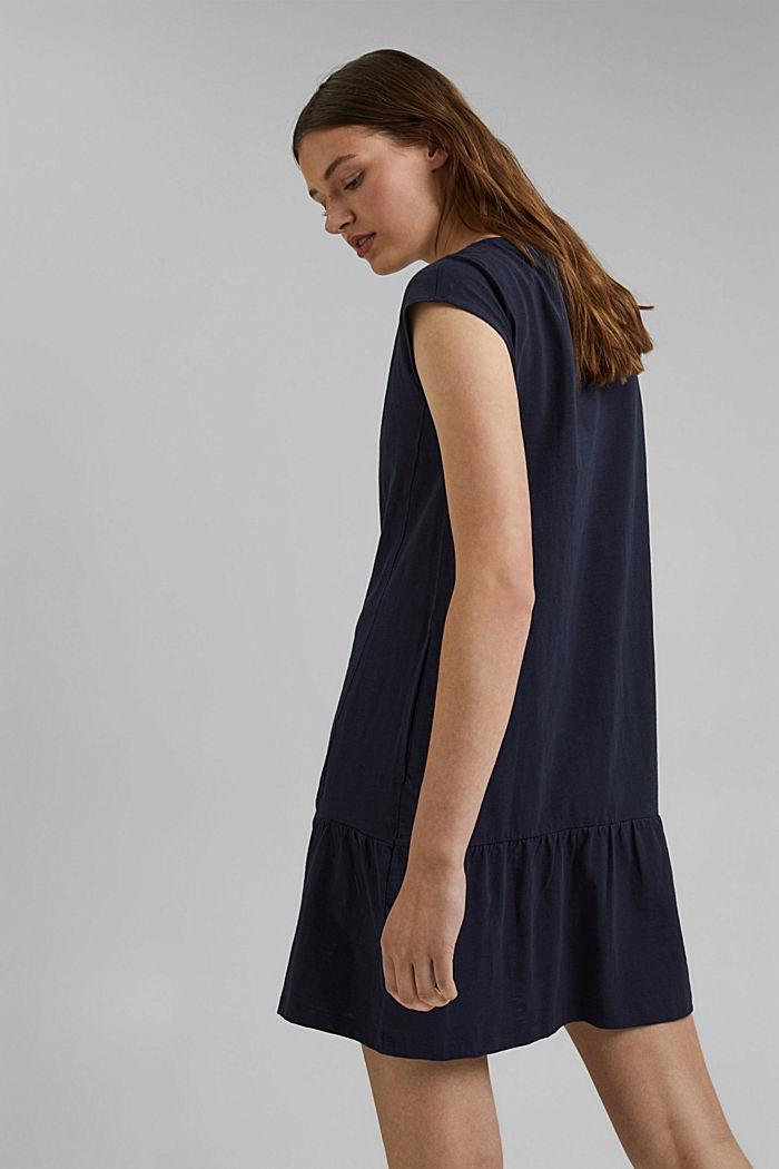 Jersey jurk van 100% biologisch katoen, NAVY, detail image number 2