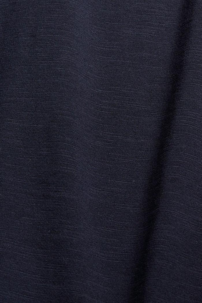 Jersey jurk van 100% biologisch katoen, NAVY, detail image number 4