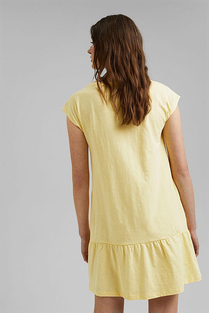 Jersey jurk van 100% biologisch katoen, LIGHT YELLOW, detail image number 2