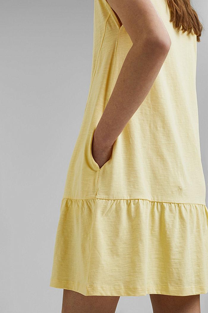 Jersey jurk van 100% biologisch katoen, LIGHT YELLOW, detail image number 3