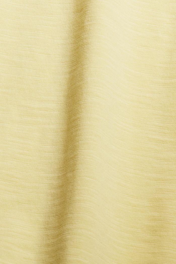 Jersey jurk van 100% biologisch katoen, LIGHT YELLOW, detail image number 4