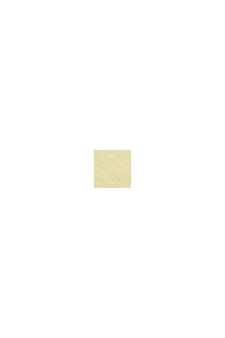 Jerseykjole af 100% økologisk bomuld, LIGHT YELLOW, swatch