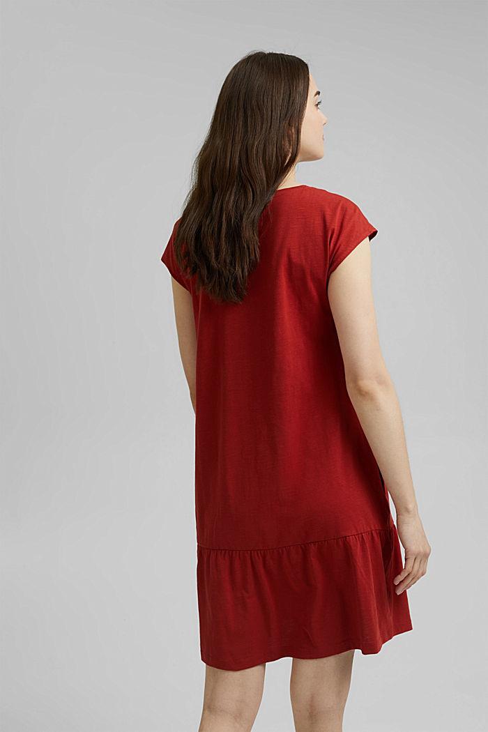 Robe en jersey, 100% coton biologique, TERRACOTTA, detail image number 2