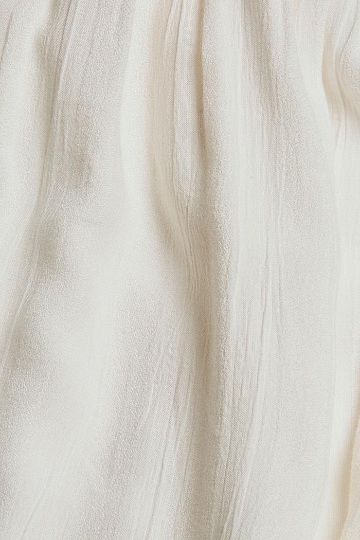 Haut façon blouse smocké à teneur en LENZING™ ECOVERO™, OFF WHITE, detail image number 4
