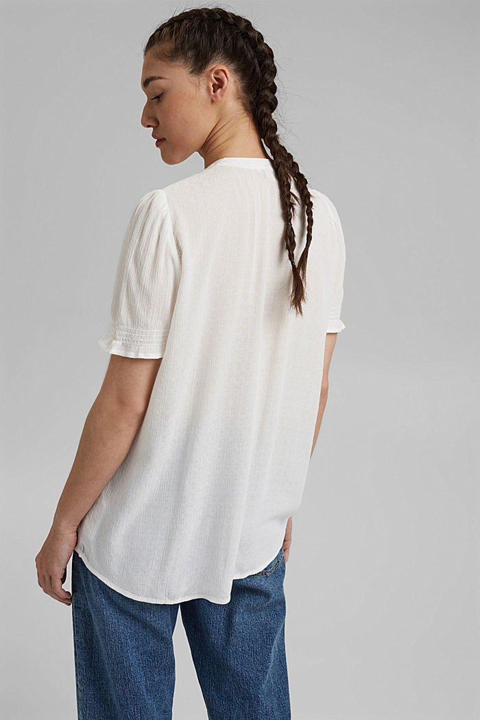 Bluse aus LENZING™ ECOVERO™, OFF WHITE, detail image number 3