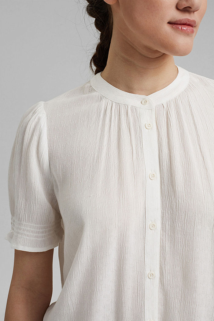 Bluse aus LENZING™ ECOVERO™, OFF WHITE, detail image number 2