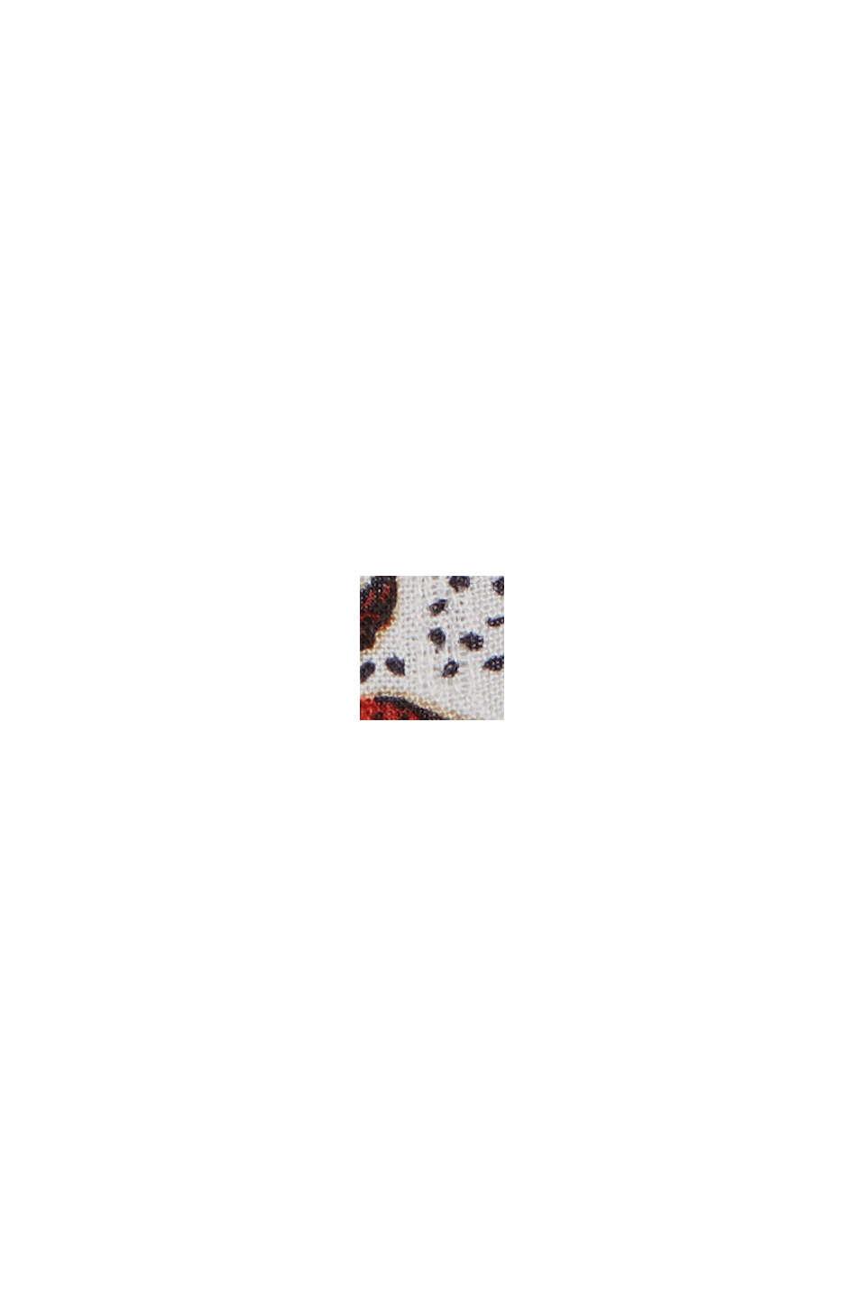 Blommönstrad krinklad blus av LENZING™ ECOVERO™, OFF WHITE, swatch