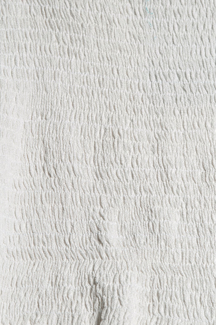 Smocked top made of LENZING™ ECOVERO™, OFF WHITE, detail image number 4