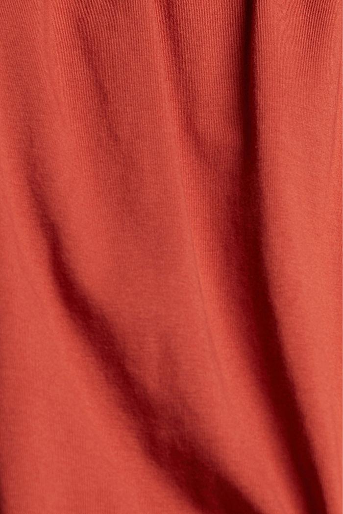 Bardot top made of 100% organic cotton, TERRACOTTA, detail image number 4