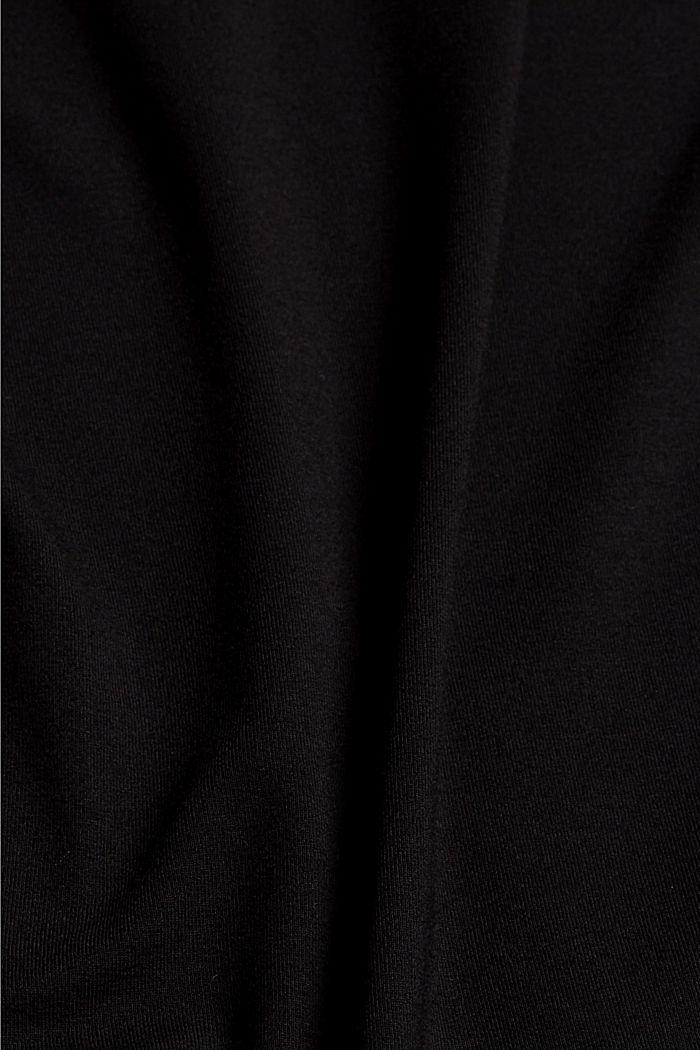 Body mit Knotenträgern, LENZING™ ECOVERO™, BLACK, detail image number 4