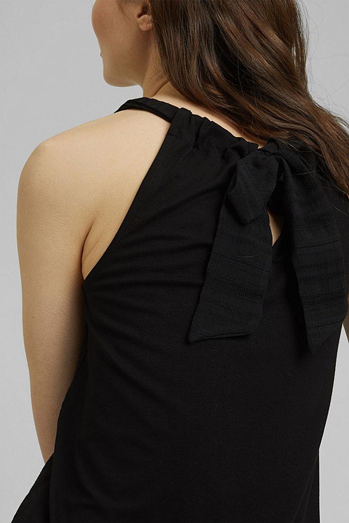 Neckholdertop mit Organic Cotton, BLACK, detail image number 2