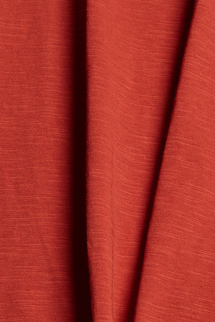 Tanktop mit Knoten, Organic Cotton, TERRACOTTA, detail image number 4