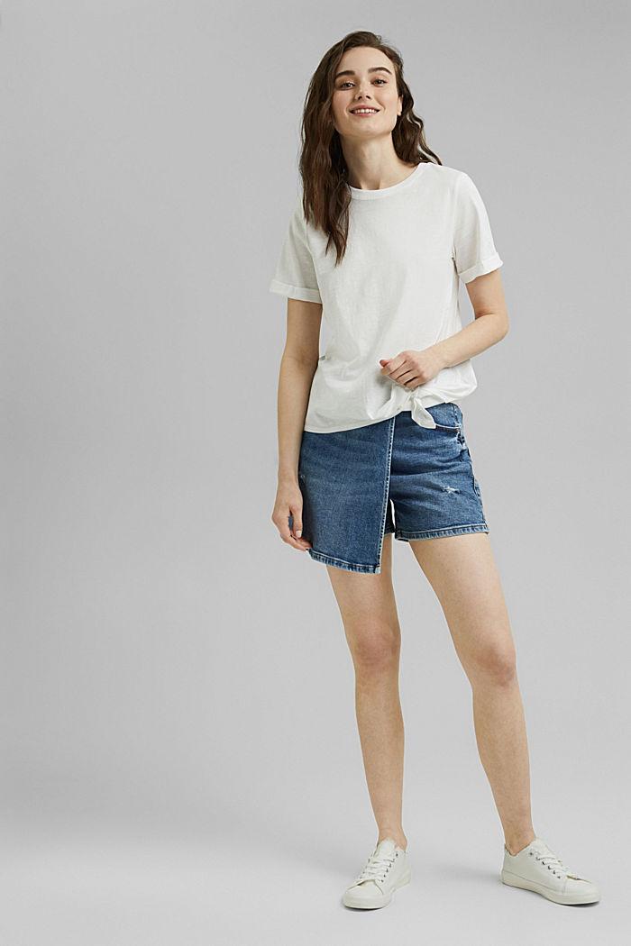 T-Shirt mit Knoten, Organic Cotton, OFF WHITE, detail image number 1