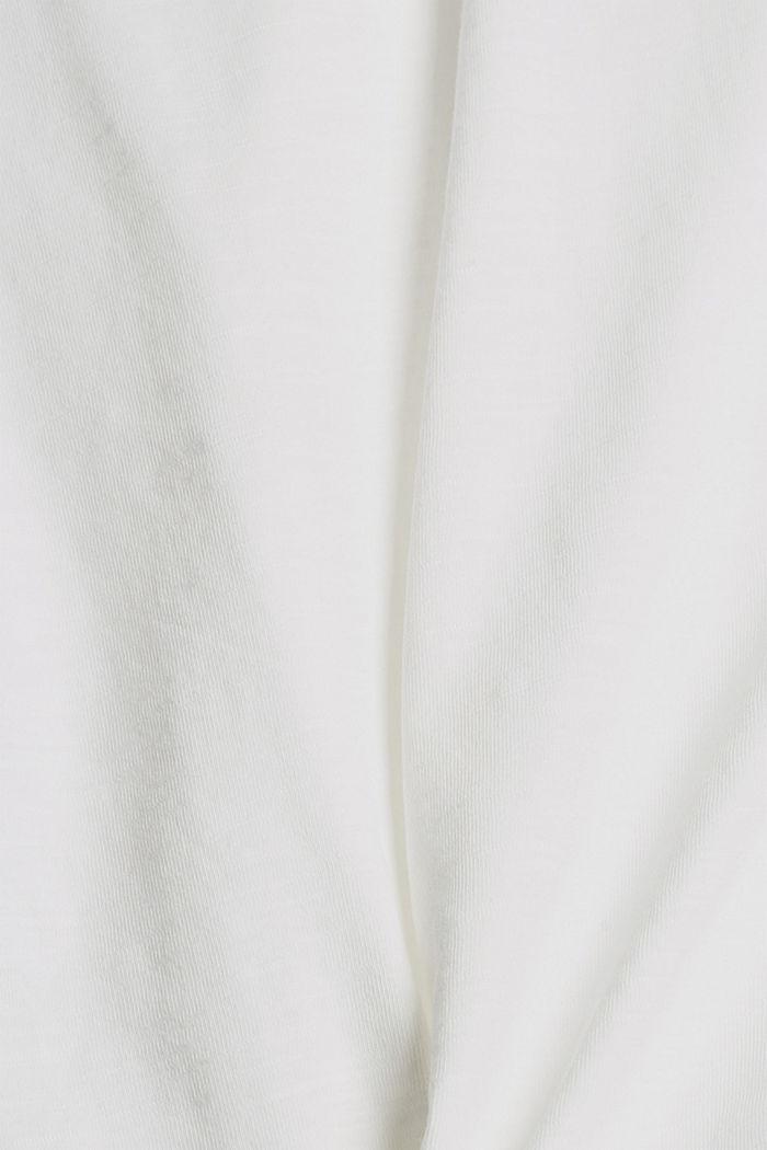 T-Shirt mit Knoten, Organic Cotton, OFF WHITE, detail image number 4