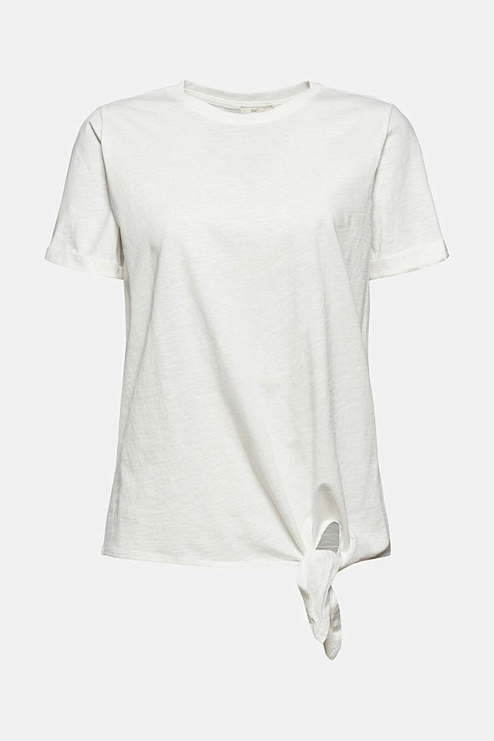 T-Shirt mit Knoten, Organic Cotton, OFF WHITE, detail image number 6