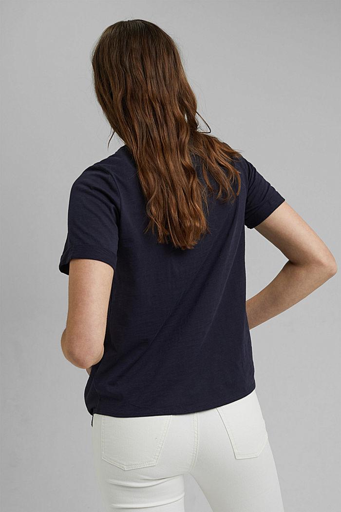 T-Shirt mit Knoten, Organic Cotton, NAVY, detail image number 3
