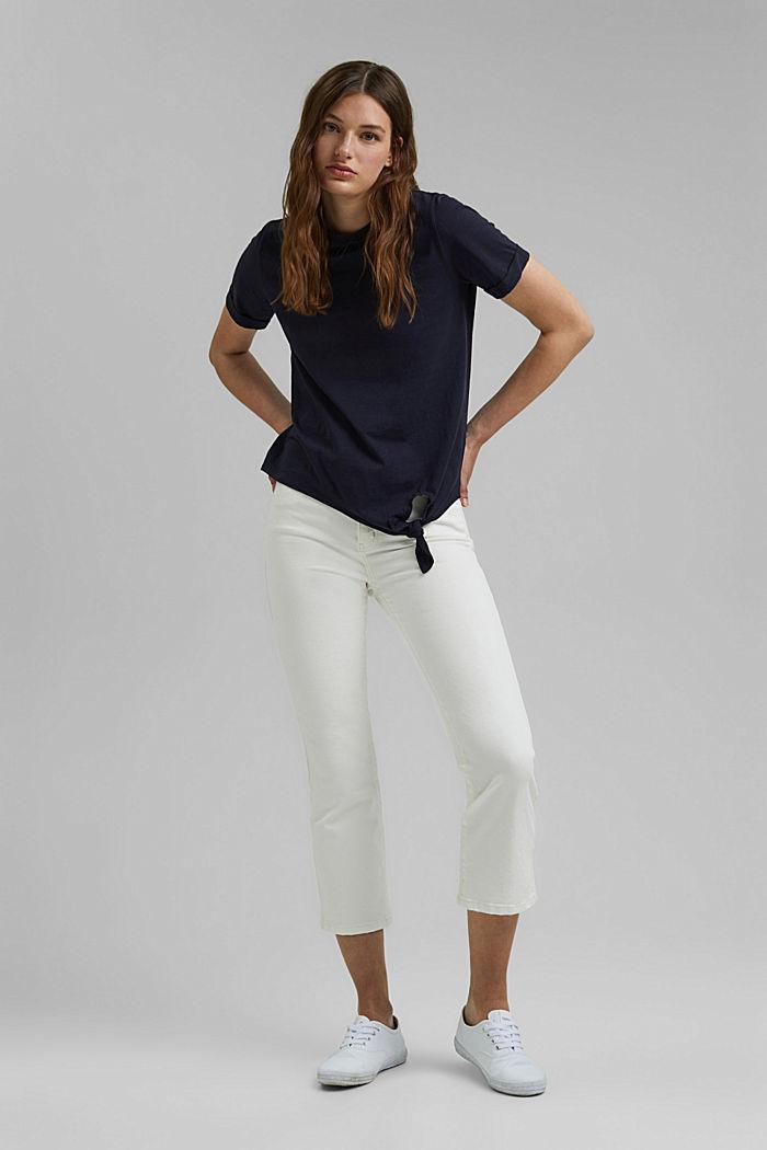 T-Shirt mit Knoten, Organic Cotton, NAVY, detail image number 1