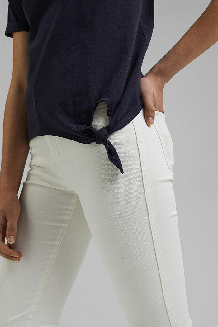 T-Shirt mit Knoten, Organic Cotton, NAVY, detail image number 2