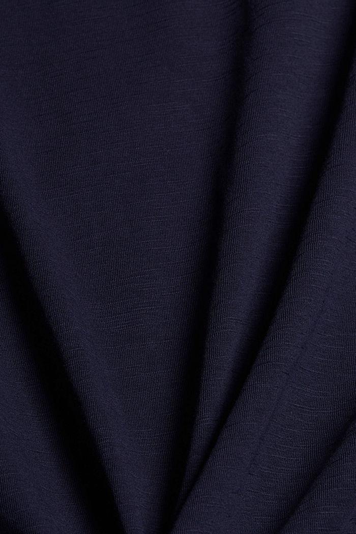 T-Shirt mit Knoten, Organic Cotton, NAVY, detail image number 4