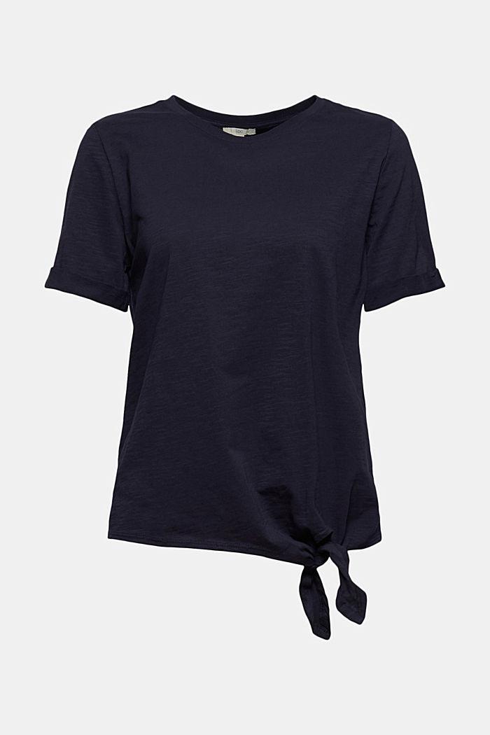 T-shirt med knytning, ekologisk bomull